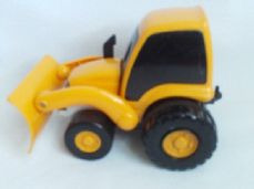 Adorable 1994 'Golden Bell' Friction Digger Push Along Toy